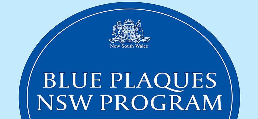 NSW Blue Plaques Program