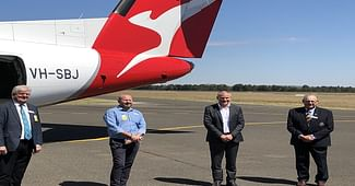 First Qantas Flight Lands In Griffith